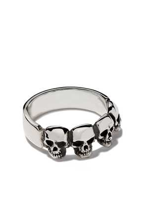The Great Frog four skull ring - Silver