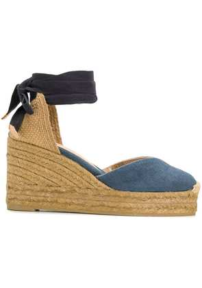 Castañer denim wedge espadrilles - Blue
