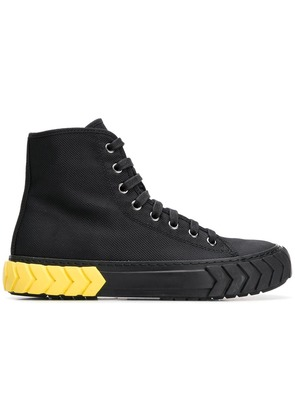 Both hi-top lace-up sneakers - Black