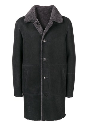 Desa 1972 shearling lined coat - Black