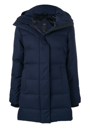 Canada Goose quilted zipped coat - Blue