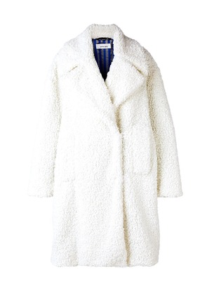 Circus Hotel oversized faux shearling coat - White