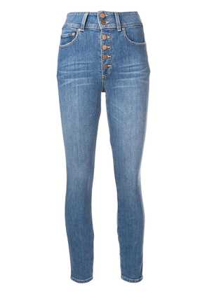 Alice+Olivia button front skinny jeans - Blue