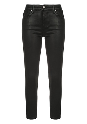 7 For All Mankind high waist skinny jeans - Black