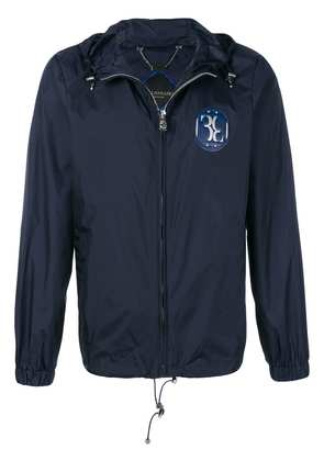 Billionaire chest patch hooded jacket - Blue