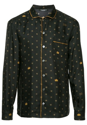Dolce & Gabbana logo embroidered shirt - Black