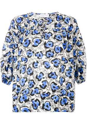 Christian Wijnants floral printed blouse - Blue