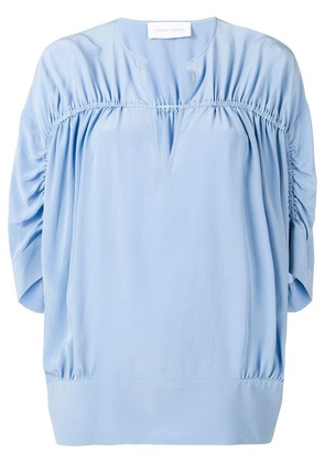 Christian Wijnants ruched blouse - Blue