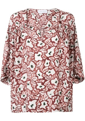 Christian Wijnants floral print blouse - Red