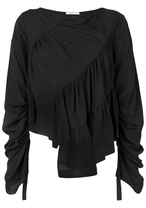 3.1 Phillip Lim long sleeve ruffle blouse - Black