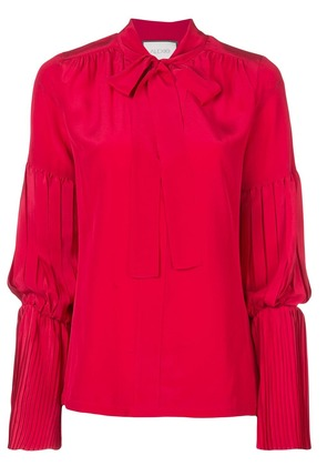 Alexis pleat detail blouse - Red