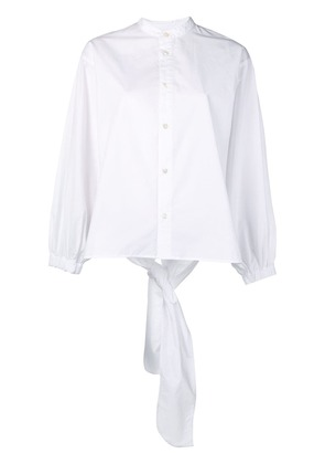 Ambush tie back shirt - White