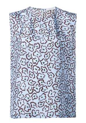 Christian Wijnants abstract floral vest top - Blue