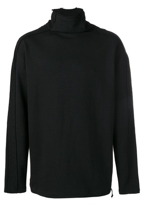 D.Gnak High Collar Raw Cut T-shirt - Black