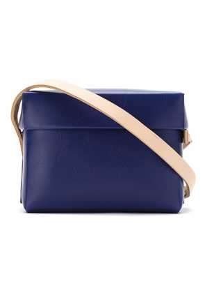 Gloria Coelho plastic bag with leather straps - Blue