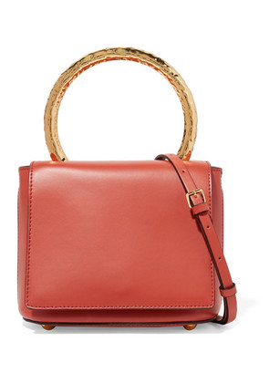 Marni - Pannier Leather Shoulder Bag - Tomato red
