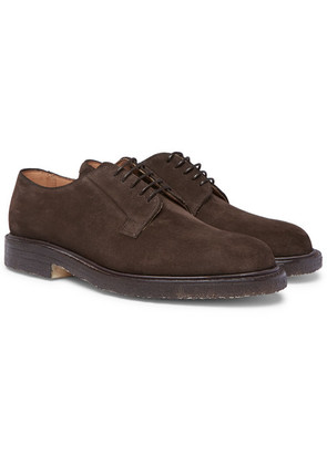 Cheaney - Deal Suede Derby Shoes - Brown