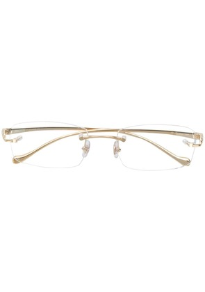 Cartier rectangle frame glasses - Gold