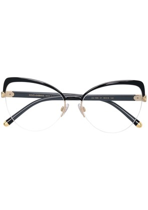 Dolce & Gabbana Eyewear cat eye shaped glasses - Black
