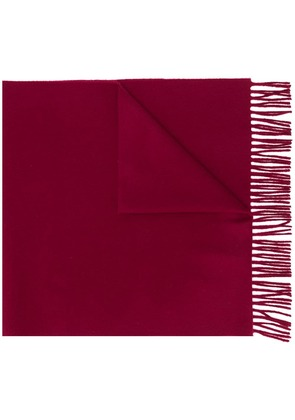 Lanvin fringed scarf - Red
