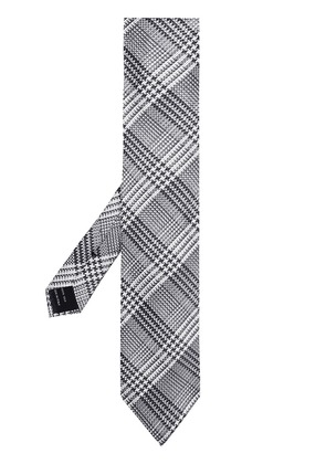 Tom Ford Prince of Wales check tie - Grey