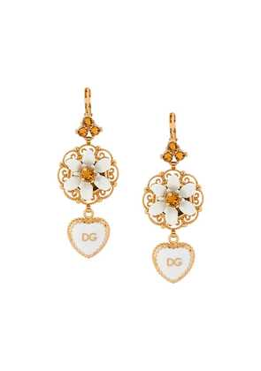 Dolce & Gabbana DG heart dropped earrings - Metallic
