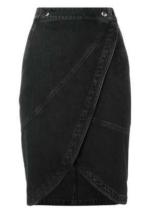 Givenchy midi denim skirt - Black