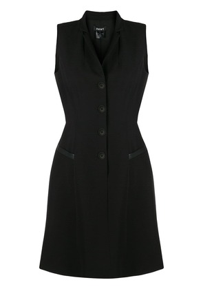 DKNY buttoned flared dress - Black