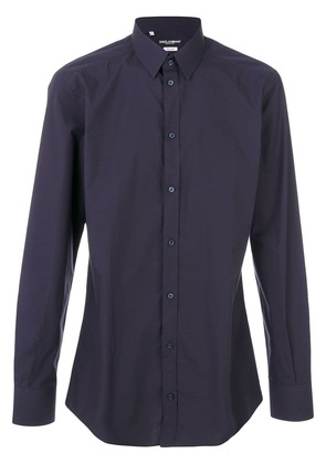 Dolce & Gabbana classic long sleeve shirt - Blue