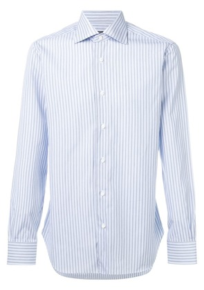 Barba striped classic shirt - Blue