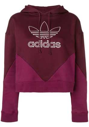 Adidas CLRDO cropped hoodie - Red