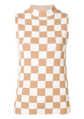Jil Sander checkerboard tank top - Neutrals
