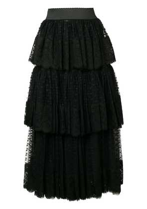 Dolce & Gabbana pleated cascading skirt - Black