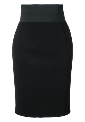 Akris Punto fitted waist skirt - Black