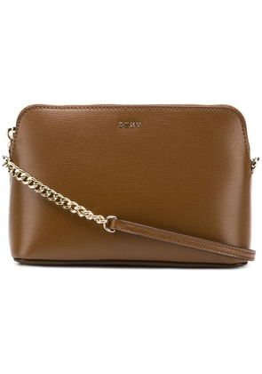 DKNY Saffiano leather cross-body bag - Brown
