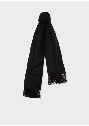 Black Large Cashmere Scarf