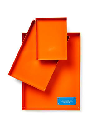 Best Made Company - The Spare Parts Set Of Three Steel Trays - Bright orange