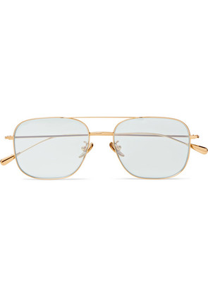 Cutler and Gross - Aviator-style Gold-tone Sunglasses - Gold