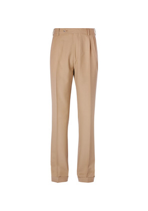 Gucci - Pleated Wool Trousers - Sand