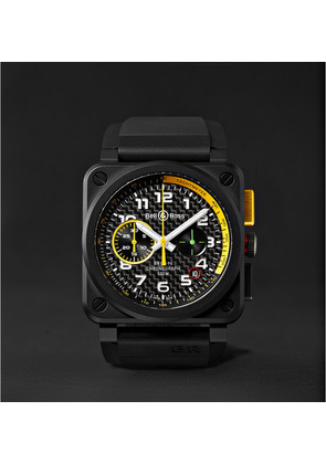 Bell & Ross - Limited Edition Br 03-94 Rs17 42mm Ceramic And Rubber Chronograph Watch - Black