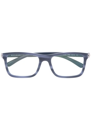 Bulgari square frame glasses - Blue