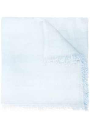 Carolina Herrera fringed scarf - Blue