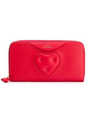 Anya Hindmarch large Chubby Heart zip-around wallet - Red