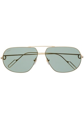 Cartier aviator-style sunglasses - Gold