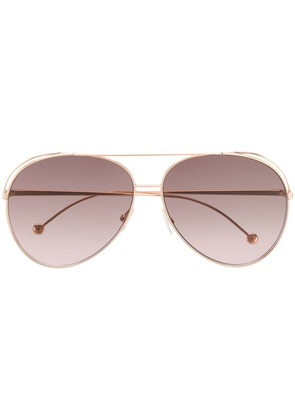 Fendi Eyewear aviator frame sunglasses - Gold