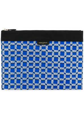 Maison Kitsuné geometric logo wash bag - Blue