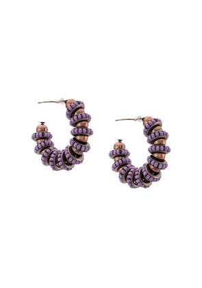 Carolina Herrera beaded hoop earring - Purple