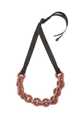 Carolina Herrera twisted beaded necklace - Black