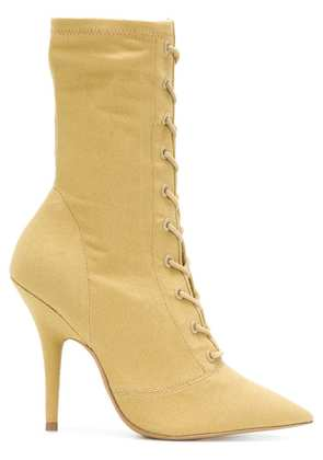 Yeezy Season 6 lace-up ankle boots - Yellow