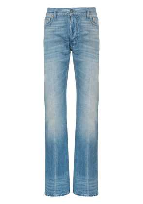 Gucci Web trim embellished straight jeans - Blue